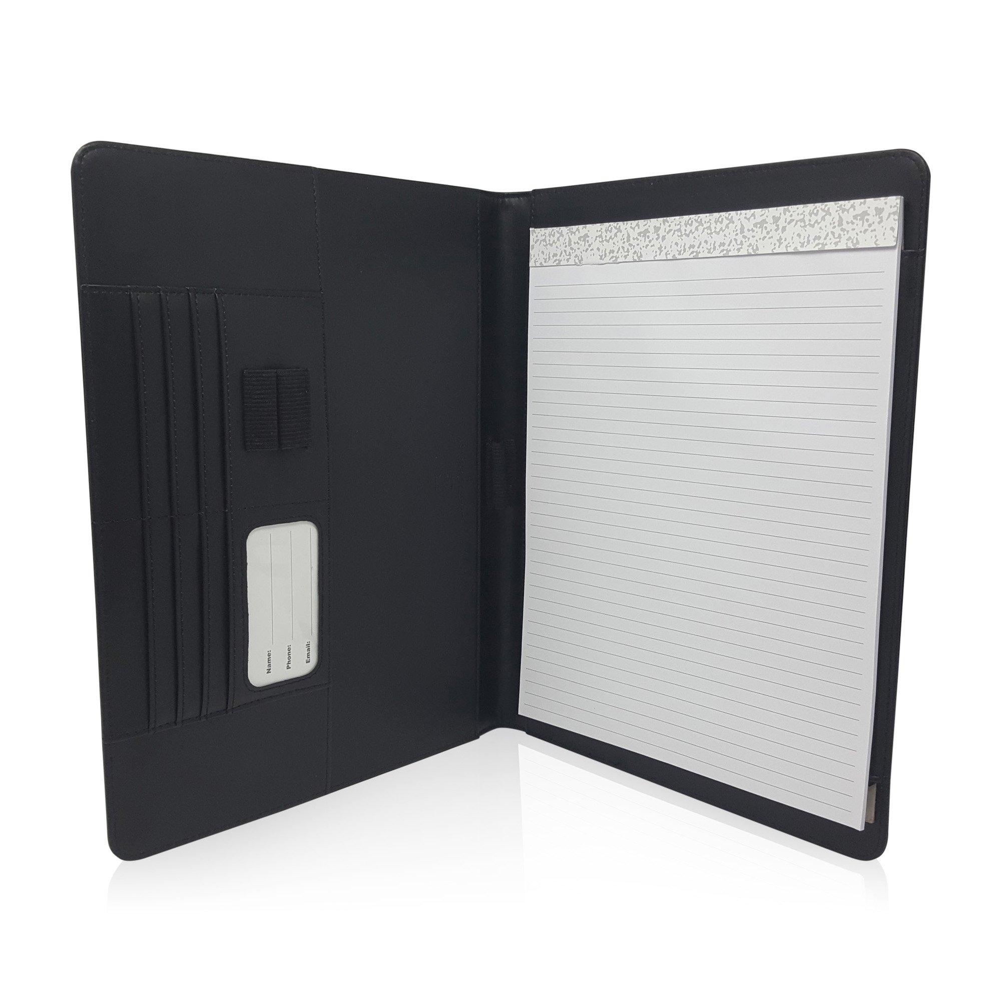 Slim Ambidextrous Notepad Portfolio – Professional PU Leather ...