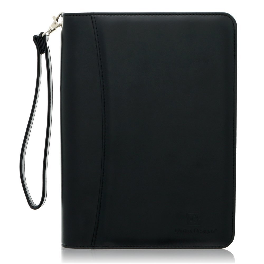 Junior Zippered Leather Business Padfolio